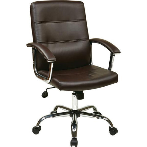 Office Star Ave Six MAL26-ES Malta Office Chair in Espresso - Peazz Furniture