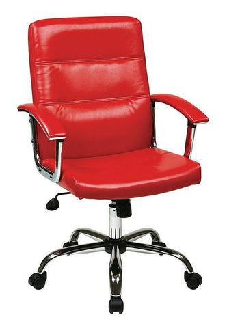 Office Star Ave Six MAL26-RD Malta Office Chair in Red - Peazz Furniture