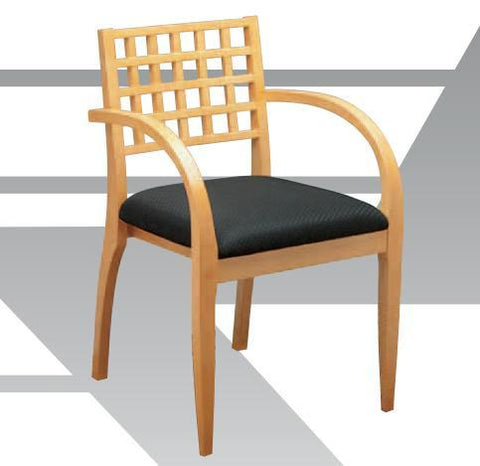 Office Star OSP Furniture MEN-98-MPL Leg Chair With Wood Criss-Cross Back & High Gloss Maple Or Mahogany Finish (4 Pack) - Peazz.com