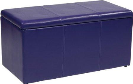 Office Star OSP Designs MET73V-PB512 3 Piece Purple Vinyl Ottoman Set - Peazz Furniture