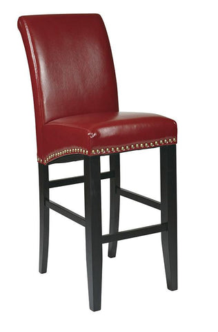 "Office Star OSP Designs MET8730RD 30"" Parsons Barstool - Peazz Furniture"