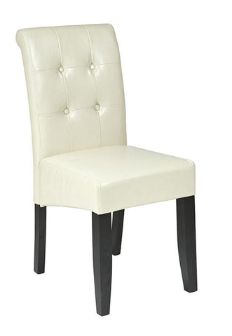 Office Star OSP Designs MET88CM Cream Eco Leather Parsons Chair - Peazz Furniture