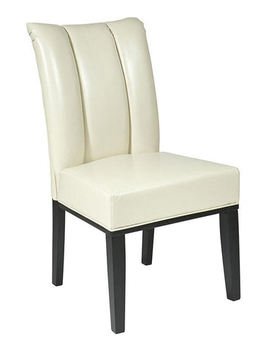 Office Star OSP Designs MET89CM Cream Eco Leather Parsons Chair - Peazz Furniture