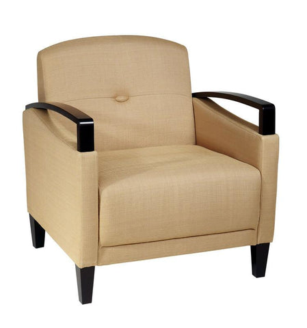 Office Star Ave Six MST51-C28 Main Street Chair in Woven Wheat - Peazz Furniture