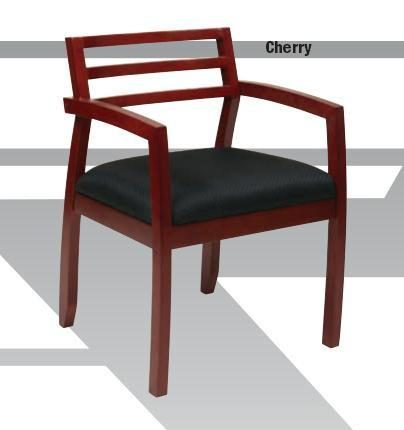 Office Star OSP Furniture NAP91CHY-3 Napa Cherry Guest Chair with Wood Back (1-Pack) - Peazz Furniture