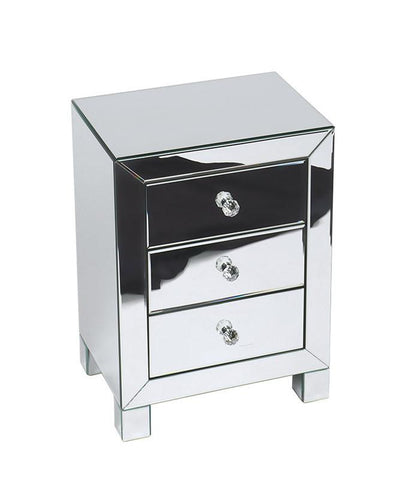 Office Star Ave Six REF173-SLV Reflections 3 Drawer Accent Table - Peazz Furniture