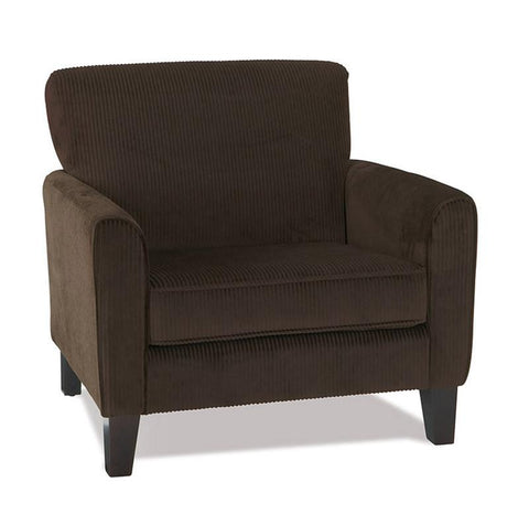 Office Star Ave Six SRA51-C47 Sierra Chair in Corduroy Coffee - Peazz Furniture