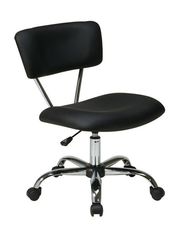 Office Star Ave Six ST181-V3 Vista Task Office Chair in Black - Peazz Furniture