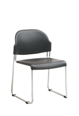 Office Star Work Smart STC3030-3 4 Pack Stack Chair with Plastic Seat and Back - Peazz Furniture