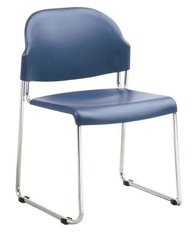 Office Star Work Smart STC3030-7 4 Pack Stack Chair with Plastic Seat and Back - Peazz Furniture