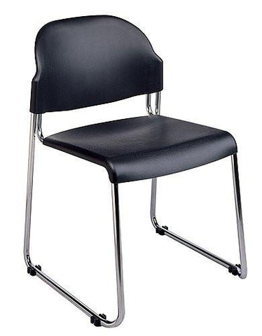 Office Star Work Smart STC3230-3 2-Pack Stack Chair with Plastic Seat and Back - Peazz Furniture