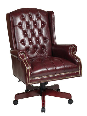 Office Star Work Smart TEX220-JT4 Deluxe High Back Traditional Executive  Chair - Peazz Furniture