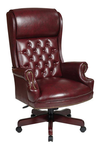 Office Star Work Smart TEX228-JT4 Deluxe High Back Traditional Executive  Chair - Peazz Furniture