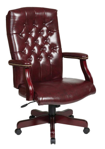 Office Star Work Smart TEX232-JT4 Traditional Executive Chair with Padded Arms - Peazz Furniture