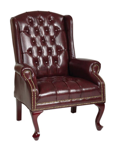 Office Star Work Smart TEX234-JT4 Traditional Queen Anne Style Chair - Peazz Furniture