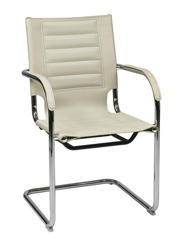 Office Star Ave Six TND945A-CRM Trinidad Guest Chair in Cream Vinyl - Peazz Furniture