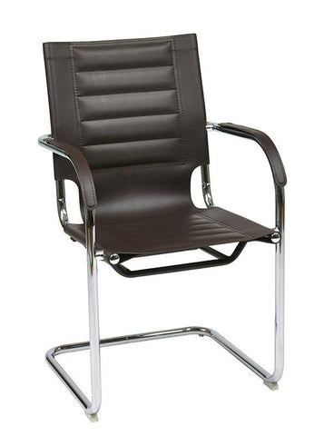 Office Star Ave Six TND945A-ES Trinidad Guest Chair in Espresso Vinyl - Peazz Furniture
