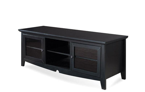 "Office Star OSP Designs TV0860FBK 60"" TV Stand in Black - Peazz Furniture"