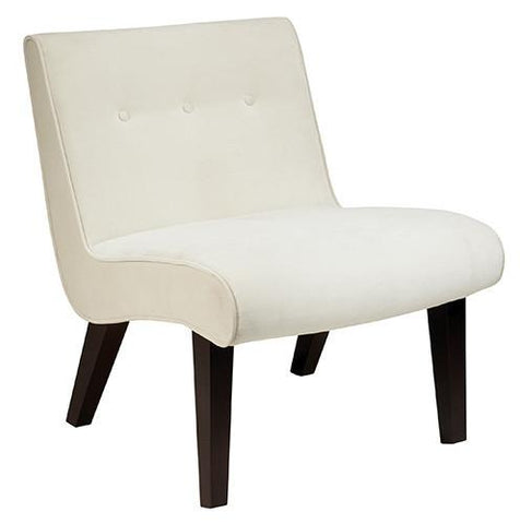 Office Star Ave Six VAL51N-X12 Curves Valencia Accent Chair in Oyster Velvet - Peazz Furniture