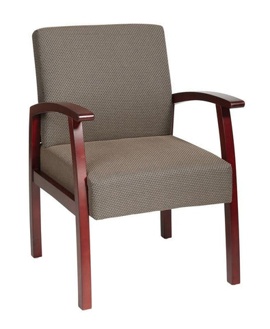 Office Star Work Smart WD1357-316 Deluxe Cherry Finish Guest Chair with Taupe Fabric - Peazz Furniture
