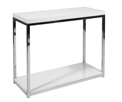 Office Star Ave Six WST07-WH Wall Street Foyer Table in White - Peazz Furniture