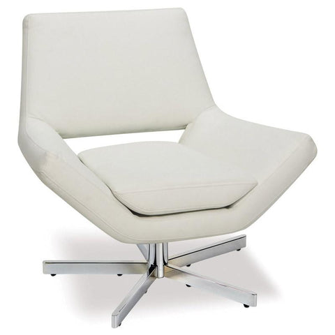 "Office Star Ave Six YLD5130-W32 Yield 31"" Wide Chair in White Faux Leather - Peazz Furniture"