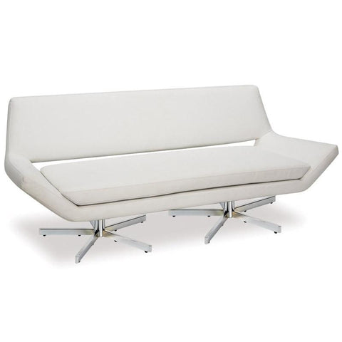 "Office Star Ave Six YLD5372-W32 Yield 72"" Loveseat  in White Faux Leather - Peazz Furniture"