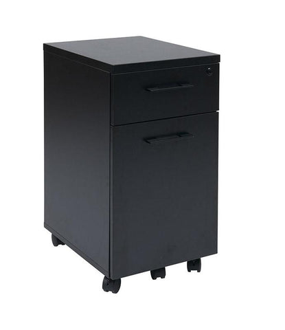 Office Star Pro-Line II PRD3085-BLK Prado Mobile File in Black with Hidden Drawer and Castors - Peazz Furniture
