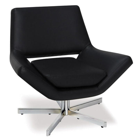 "Office Star Ave Six YLD5130-B18 Yield 31"" Wide Chair in Black Faux Leather - Peazz Furniture"