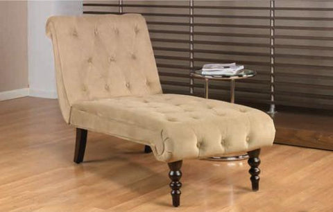 Office Star Ave Six CVS72-C27 Curves Tufted Chaise Lounge in Coffee Velvet - Peazz Furniture