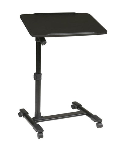 Office Star OSP Designs LT733-3 Mobile Laptop Cart with Adjustable Black Top - Peazz Furniture