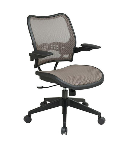 Office Star Space Seating 13-88N1P3 Deluxe Latte AirGrid® Seat and Back Chair with Cantilever Arms - Peazz Furniture