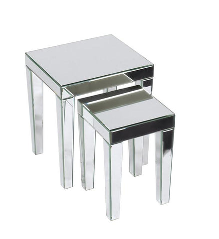 Office Star Ave Six REF19-SLV Reflections Nesting Tables - Peazz Furniture