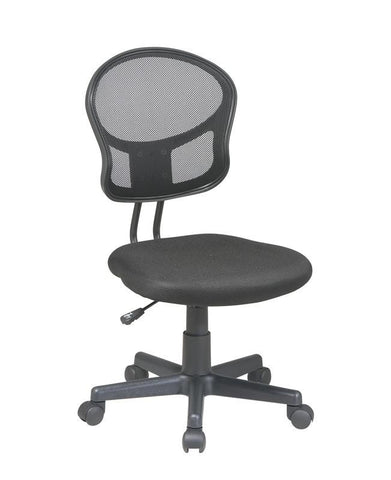 Office Star OSP Designs EM39800-3 Mesh Task chair in Black Fabric - Peazz Furniture