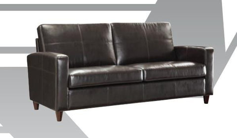 Office Star OSP Furniture SL2813-EC1 Espresso Eco Leather Sofa with Espresso Finish Legs - Peazz Furniture