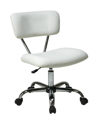 Office Star Ave Six ST181-V11 Vista Task Office Chair in White - Peazz Furniture
