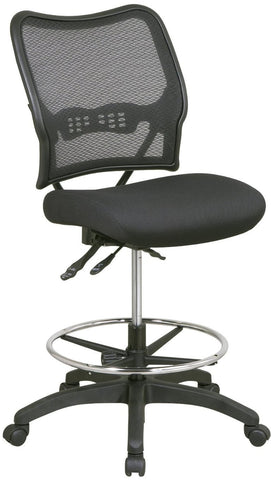 Office Star Space Seating 13-37N30D Deluxe Ergonomic AirGrid® Back Drafting Chair with Mesh Seat - Peazz Furniture