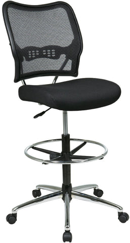 Office Star Space Seating 13-37P500D Deluxe AirGrid® Back Drafting Chair with Mesh Seat - Peazz Furniture