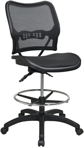 Office Star Space Seating 13-77N30D Deluxe Ergonomic AirGrid® Seat and Back Drafting Chair - Peazz Furniture
