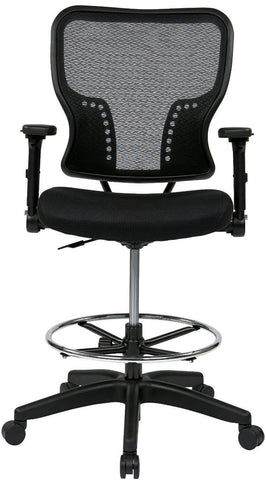Space Seating 213 37N2F3D Deluxe Air Grid¨ Back And Padded Mesh Seat Chair  With