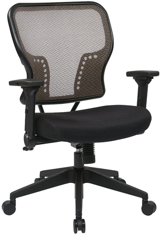 Space Seating 213-38N1F3 Latte Air Grid¨ Back and Padded Mesh Seat Chair with 2-to-1 Synchro Tilt Control - Peazz Furniture
