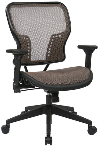 Space Seating 213-88N1F3 Latte Air Grid¨ Seat and Back Chair with 2-to-1 Synchro Tilt Control - Peazz Furniture