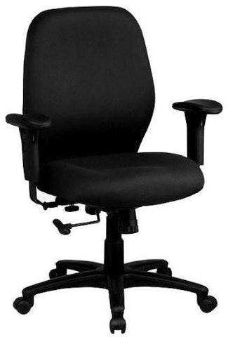 Work Smart 3121-231 Mid Back 2-to-1 synchro Tilt Chair with 2 -Way Adjustable Soft padded Arms - Peazz.com