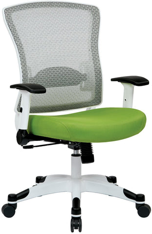 Space Seating 317W-W1C1F2W-6 White Frame Managers Chair (Green) - Peazz Furniture