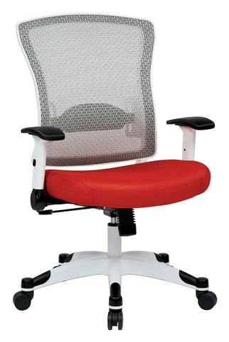 Space Seating 317W-W1C1F2W-9 White Frame Managers Chair (Red) - Peazz Furniture