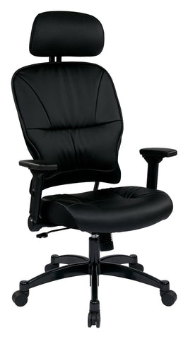Space Seating 32-E3371F3HL Eco Leather Seat and Back Managers Chair with Headrest - Peazz Furniture