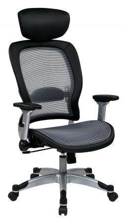 Space Seating 327-66C61F6HL Professional Light Air Grid¨ Back and Seat Chair with Headrest - Peazz Furniture