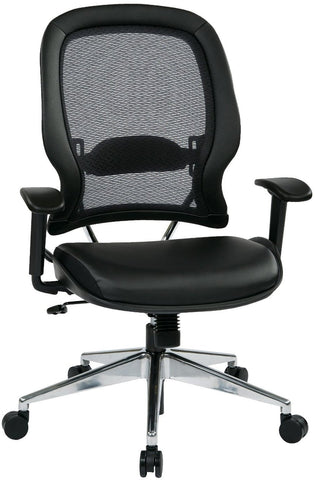 Space Seating 335 E37P918P Professional Air Grid¨ Back Chair With Eco  Leather Seat