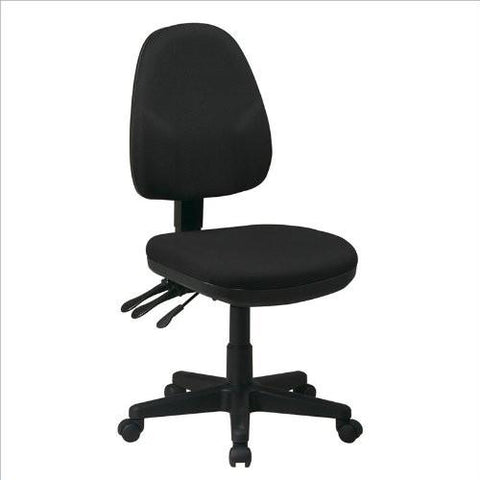 Work Smart 36420-231 Dual Function Ergonomic Chair with Adjustable Back Height with Custom Fabric Choice - Peazz.com