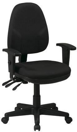 Work Smart 36427-231 Dual Function Ergonomic Chair with Adjustable Back Height and Adjustable Arms with Custom Fabric Choice - Peazz.com